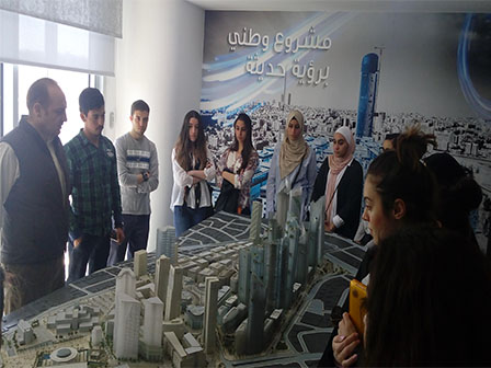 Communication GEBC Students From The School Of Applied Humanities And Languages SAHL Visit Abdali Investment Development PSC On April 6th 2017