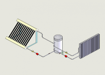 Integrated Solar System for Hot Water Domestic and Heating